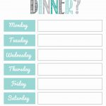 Free Meal Planning Printables … | Planning Life | Meal …   Free Printable Menu