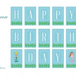 Free Mermaid Birthday Party Printables From Printabelle | Mermaid   Free Printable Little Mermaid Birthday Banner