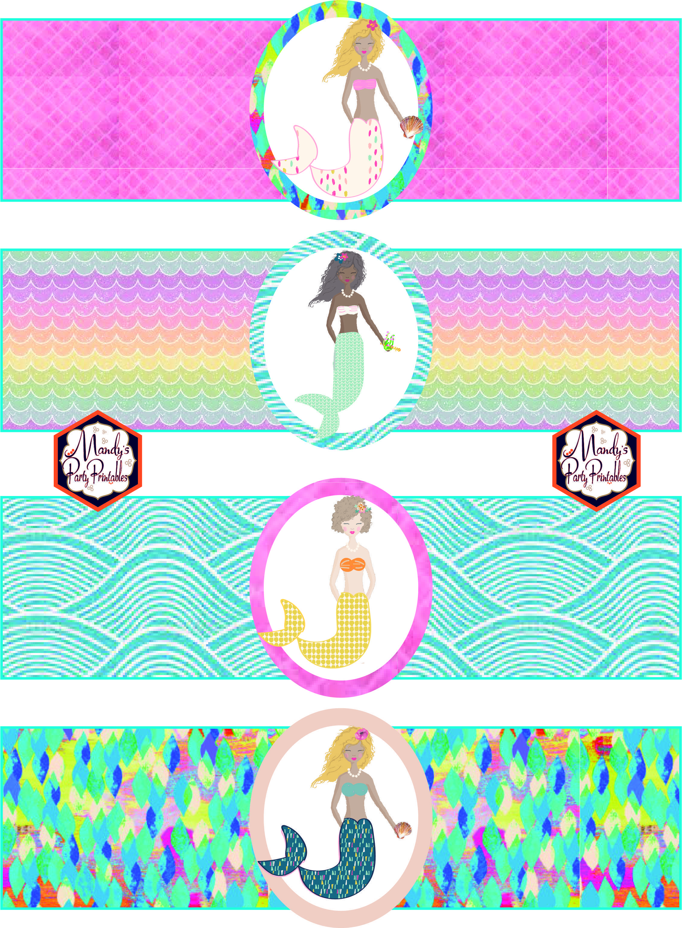 Free Mermaid Birthday Party Printables   Party Printables   Mermaid - Free Printable Little Mermaid Birthday Banner
