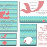 Free Mermaid Party Printables! I Will Even Customize The Invite At   Mermaid Birthday Invitations Free Printable