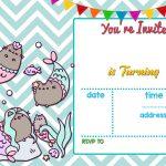 Free Mermaid Pusheen Invitation Templates Free Printable Birthday   Mermaid Birthday Invitations Free Printable