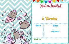 Free Mermaid Pusheen Invitation Templates Free Printable Birthday – Mermaid Birthday Invitations Free Printable