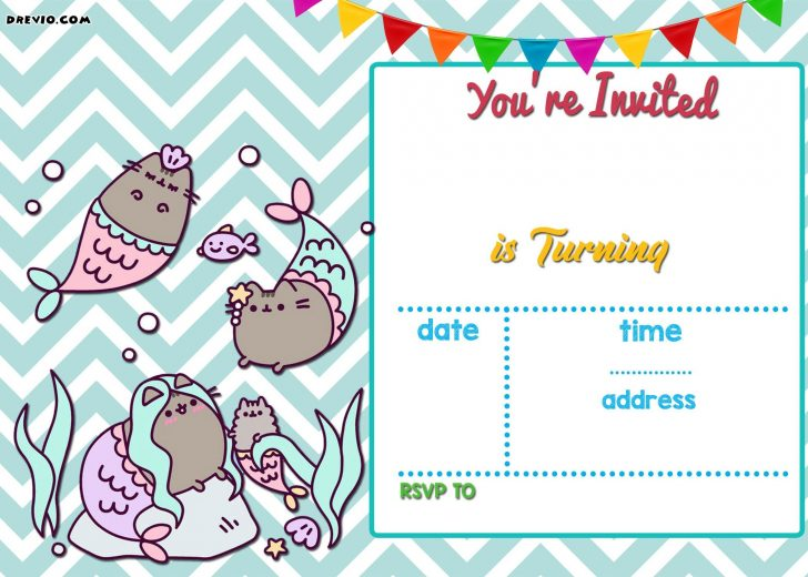 Mermaid Birthday Invitations Free Printable