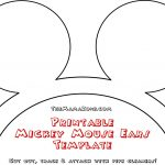 Free Mickey Mouse Ears Template | Misc | Mickey Mouse Ears, Mouse   Free Printable Minnie Mouse Ears Template