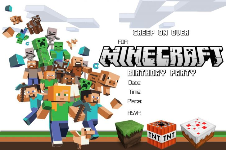 Free Printable Minecraft Invitations