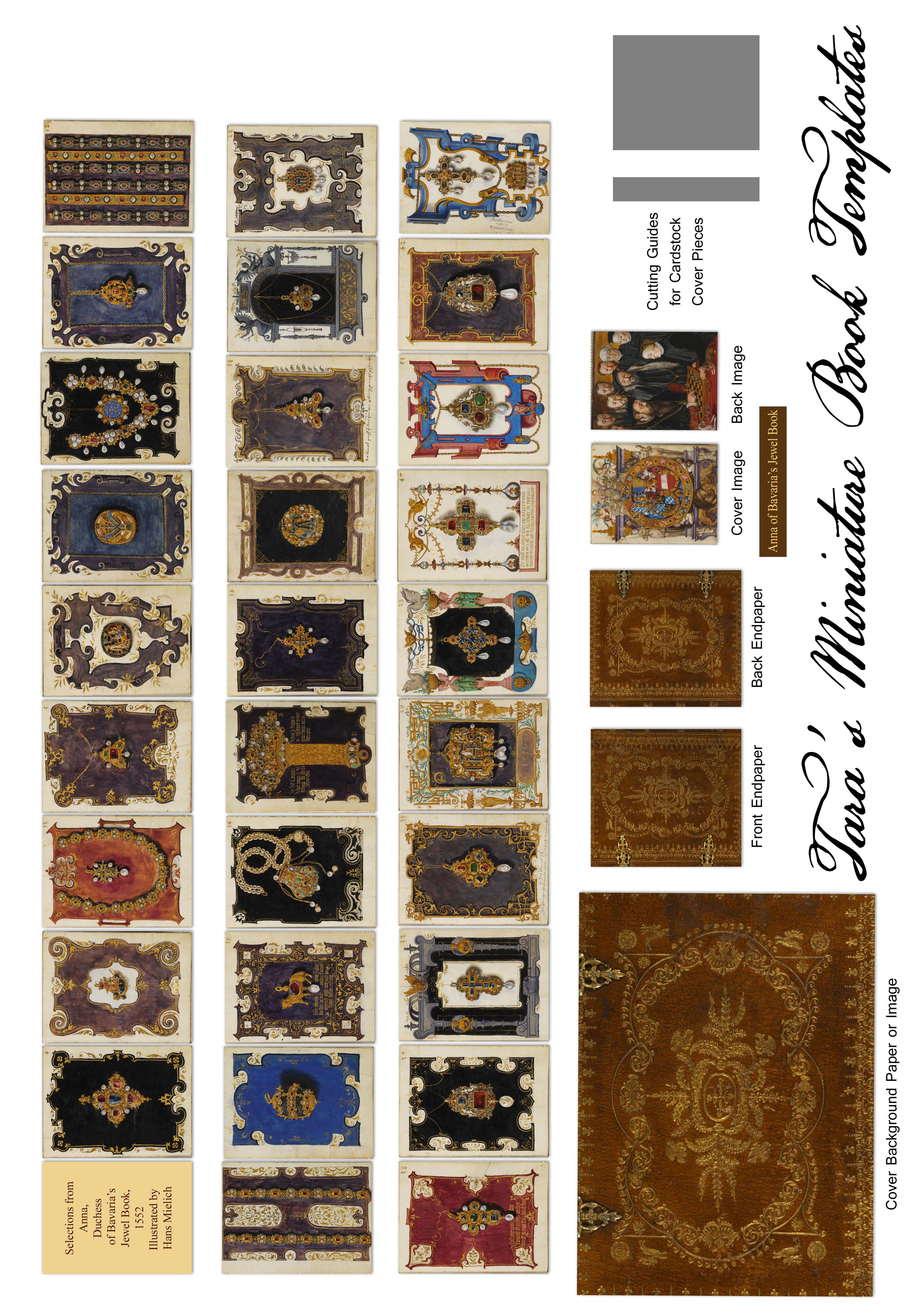 Free Miniature Book Printie With Plates From Anna Of Bavaria's 16Th - Free Printable Miniature Book Covers