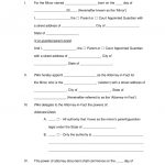 Free Minor (Child) Power Of Attorney Forms – Pdf | Word | Eforms – Free Printable Legal Documents Forms