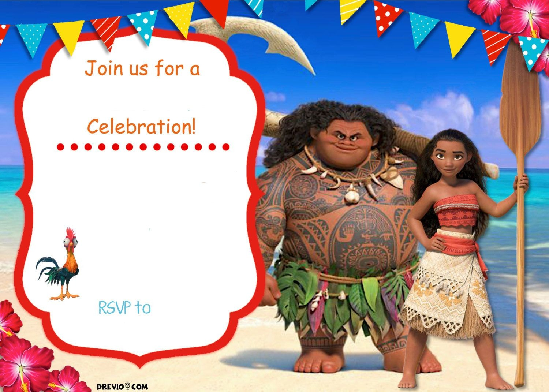 Free Moana Birthday Invitation Template   Zoey 4Th Birthday   Moana - Free Printable Moana Birthday Invitations