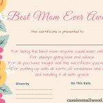 Free Mother's Day Printable Certificate Awards For Mom And Grandma   Free Printable Halloween Award Certificates