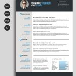 Free Ms.word Resume And Cv Template | Collateral Design | Free   Free Printable Resume Templates Microsoft Word
