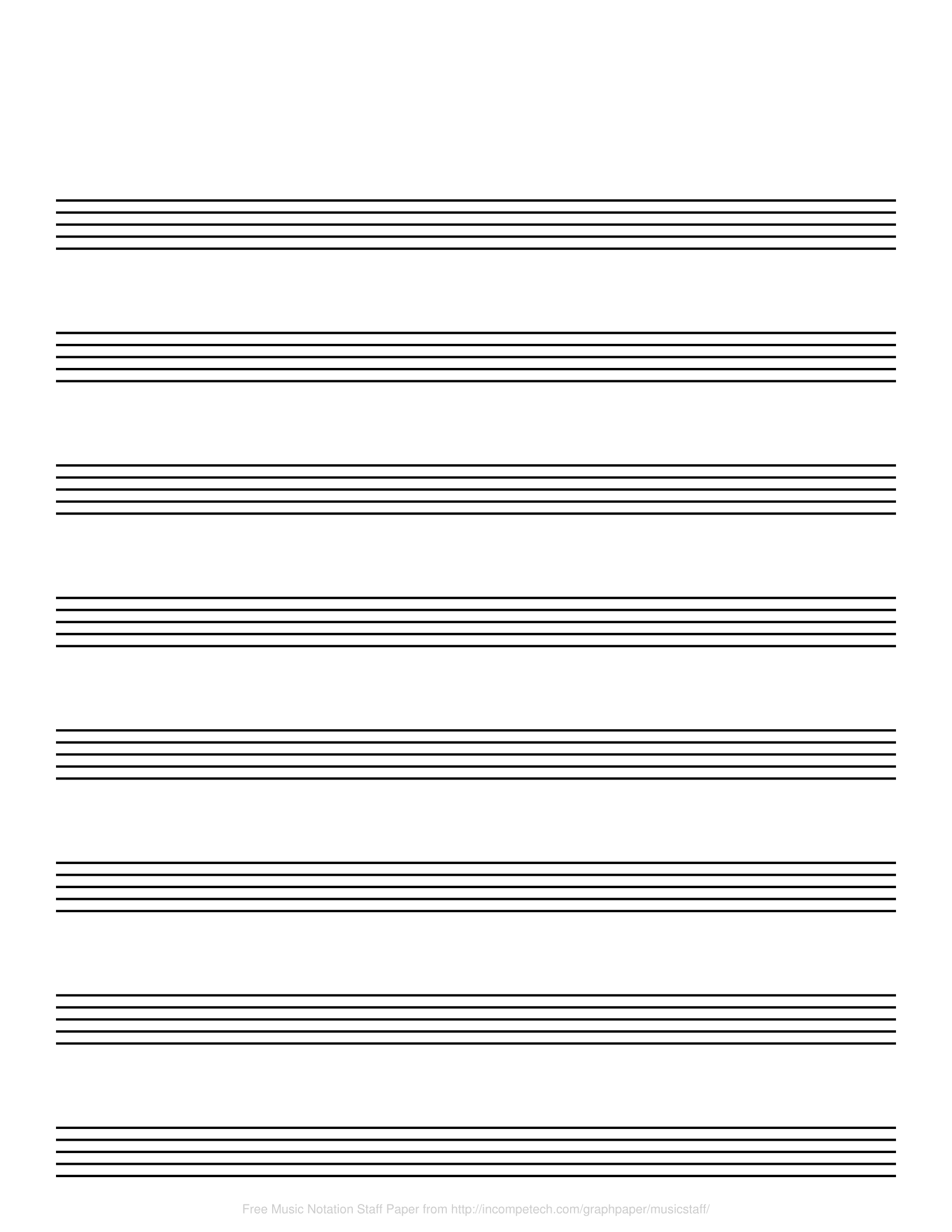 Free Online Graph Paper / Music Notation - Free Printable Staff Paper