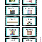 Free Organization Label Printables | The Classroom | Pinterest   Free Printable Classroom Labels For Preschoolers