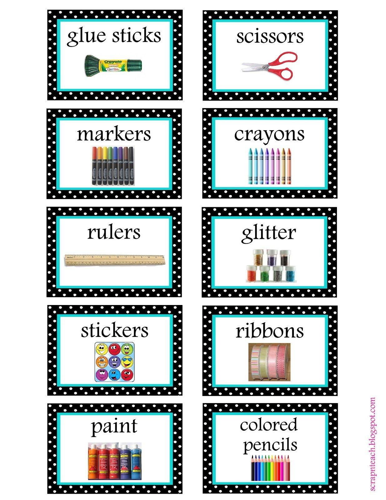 Free Organization Label Printables | The Classroom | Pinterest - Free Printable Classroom Labels For Preschoolers