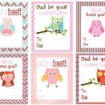 Free Owl Printables | Free Printable Valentine's Day Cards For Kids   Free Printable Valentines Day Cards