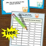 Free Personal Pronouns Task Cards { We Or Us }, Grammar Practice   Free Printable Kindergarten Task Cards
