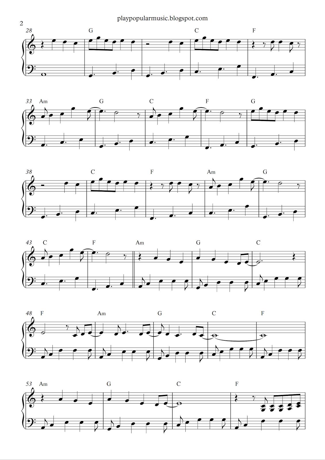 Free Piano Sheet Music: Shawn Mendes - Stitches.pdf N Ow That I'm - Airplanes Piano Sheet Music Free Printable