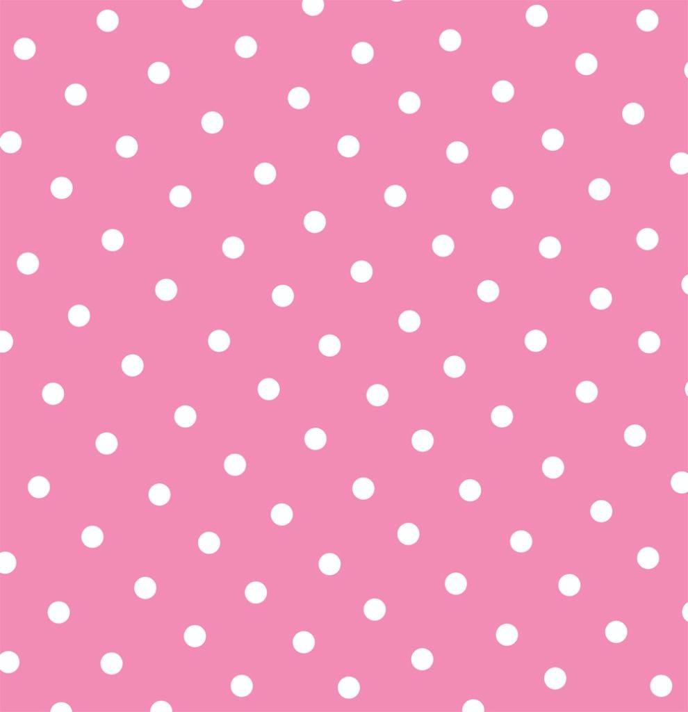 Free Pink Polka Dot Printable Page Or Digital Background.   Dsn - Free Printable Pink Polka Dot Paper