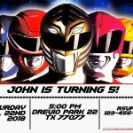 Free Power Rangers Birthday Invitation | Life's A Party | Power   Free Printable Power Ranger Birthday Invitations