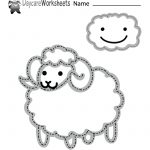 Free Preschool Tracing Sheep Worksheet   Free Printable Fine Motor Skills Worksheets