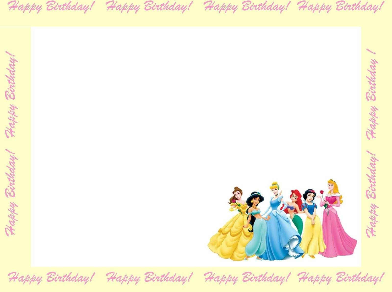 Free Princess Invitations To Print | Free Printable Disney Princess - Free Printable Princess Invitations