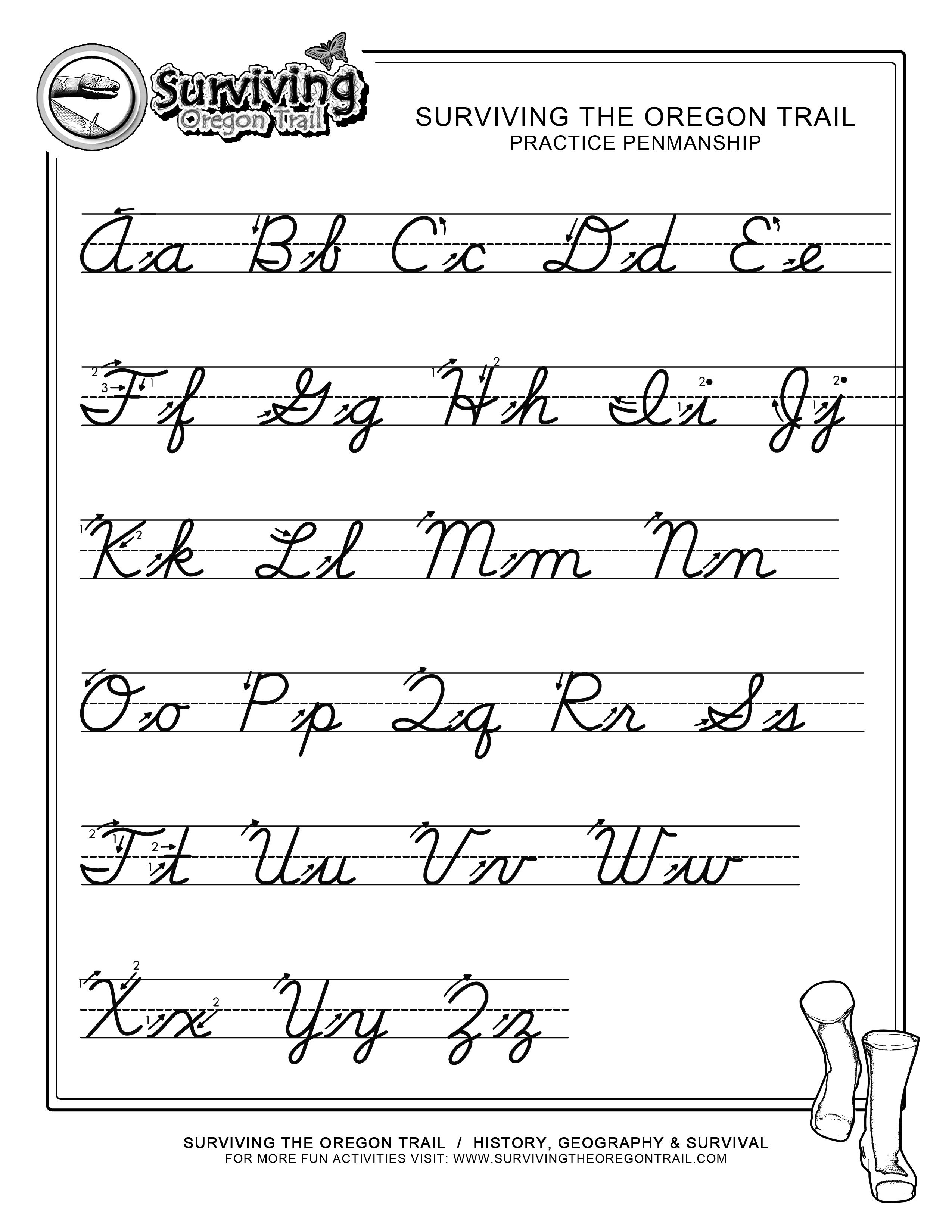 Free Print Alphabet Letter Worksheets |  – Free Abc's Printable - Free Printable Cursive Alphabet