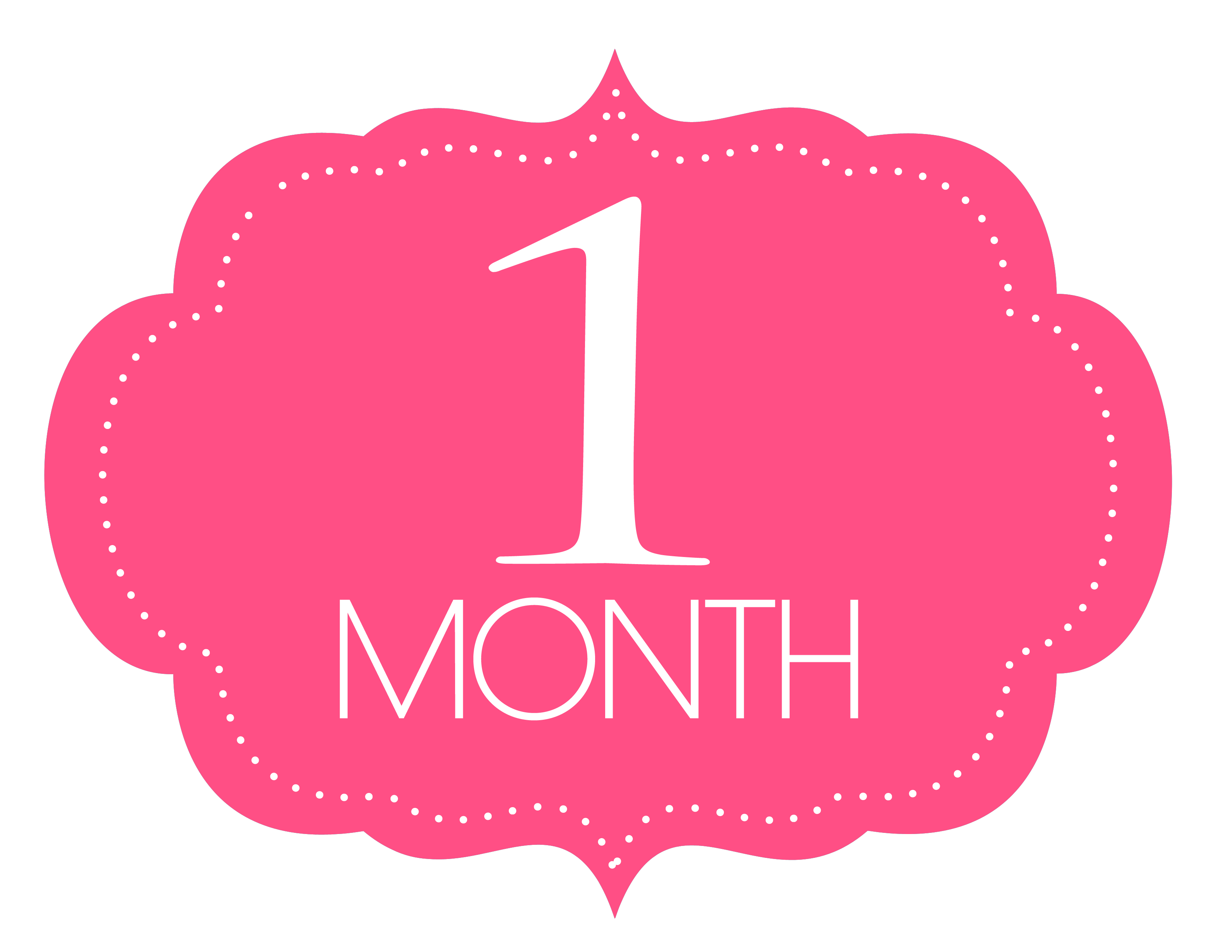 Free Printable 1 Month Old Sign | Baby - Photosmonth | One Month - Free Printable Baby Month Stickers