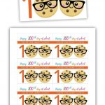 Free Printable: 100Th Day Of School   One Smart Cookie | Downloads +   100Th Day Of School Printable Glasses Free