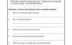 Free Printable 8Th Grade Reading Comprehension Worksheets 17 – Free Printable English Comprehension Worksheets For Grade 4
