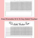 Free Printable A5 Habit Tracker – The Petite Planner – Habit Tracker Free Printable