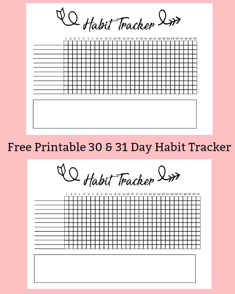 Free Printable A5 Habit Tracker - The Petite Planner - Habit Tracker Free Printable