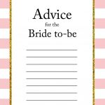 Free Printable Advice For The Bride To Be Cards | Friendship | Bride   Free Printable Bridal Shower Advice Cards