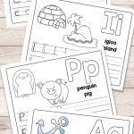 Free Printable Alphabet Book   Alphabet Worksheets For Pre K And K   Free Printable Alphabet Pages