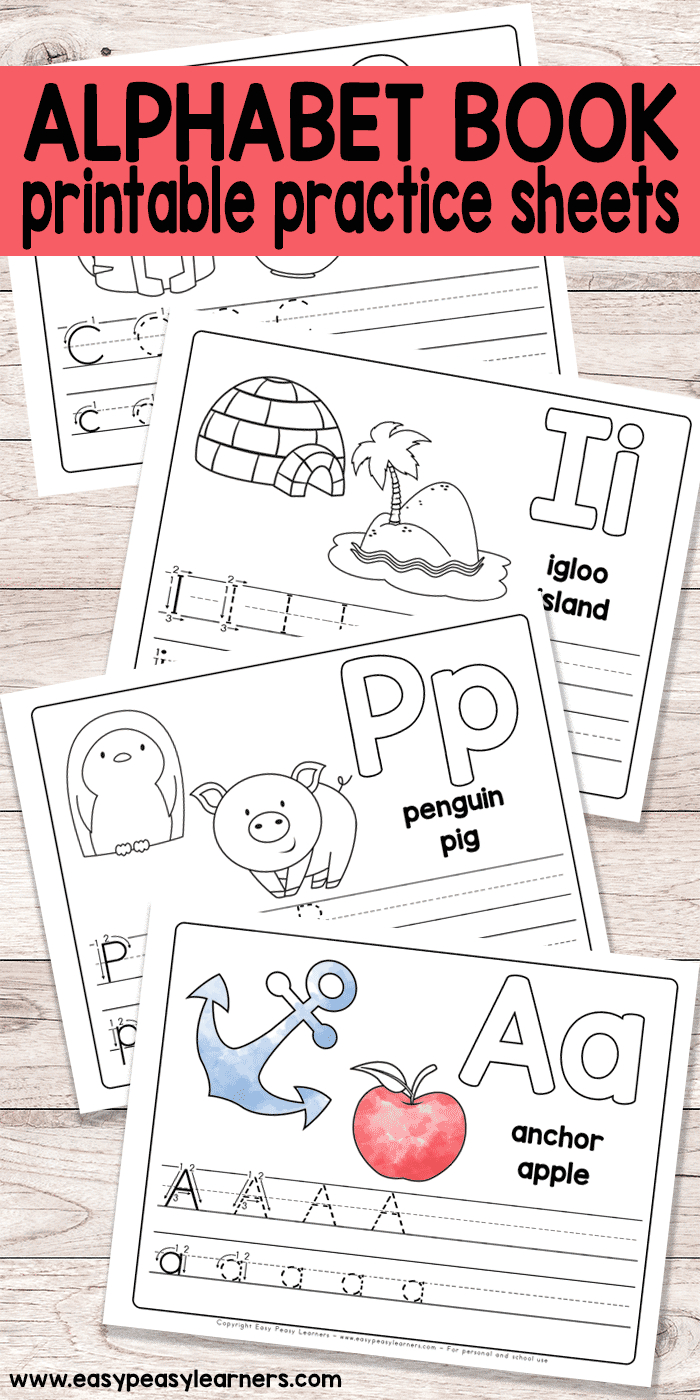 Free Printable Alphabet Book - Alphabet Worksheets For Pre-K And K - Free Printable Alphabet Pages
