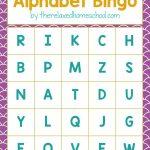 Free Printable! Alphabet Letters Bingo Game   Download Here!   Free Printable Alphabet Letters
