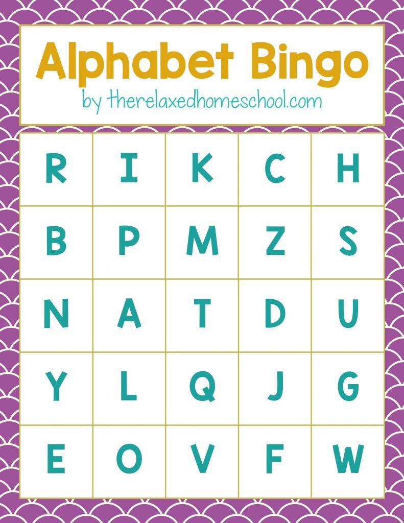 Free Printable! Alphabet Letters Bingo Game - Download Here! - Free Printable Alphabet Letters