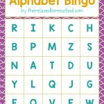 Free Printable! Alphabet Letters Bingo Game   Download Here!   Free Printable Bingo