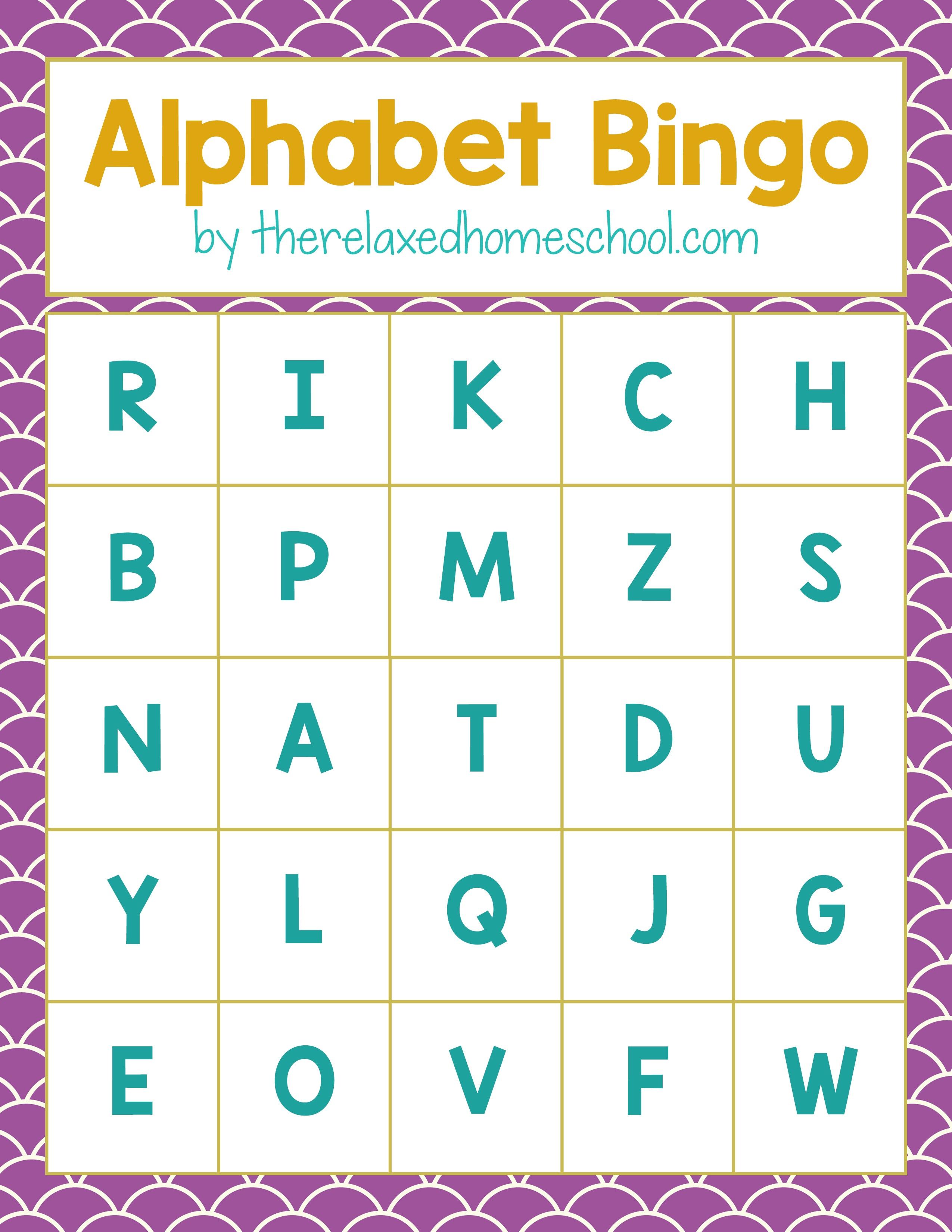 Free Printable! Alphabet Letters Bingo Game - Download Here! - Free Printable Bingo