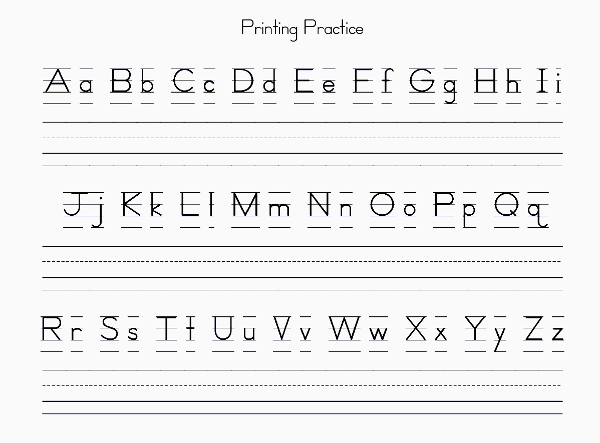 Free Printable Alphabet Letters For Preschoolers Upper & Lower Case - Free Printable Alphabet Letters Upper And Lower Case