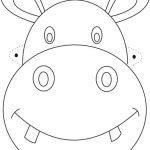 Free Printable Animal Masks Templates | Hippo Mask Printable   Giraffe Mask Template Printable Free