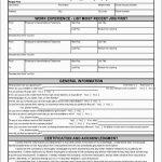 Free Printable Application For Employment Template Astonishing Blank   Free Printable Job Application Form Pdf