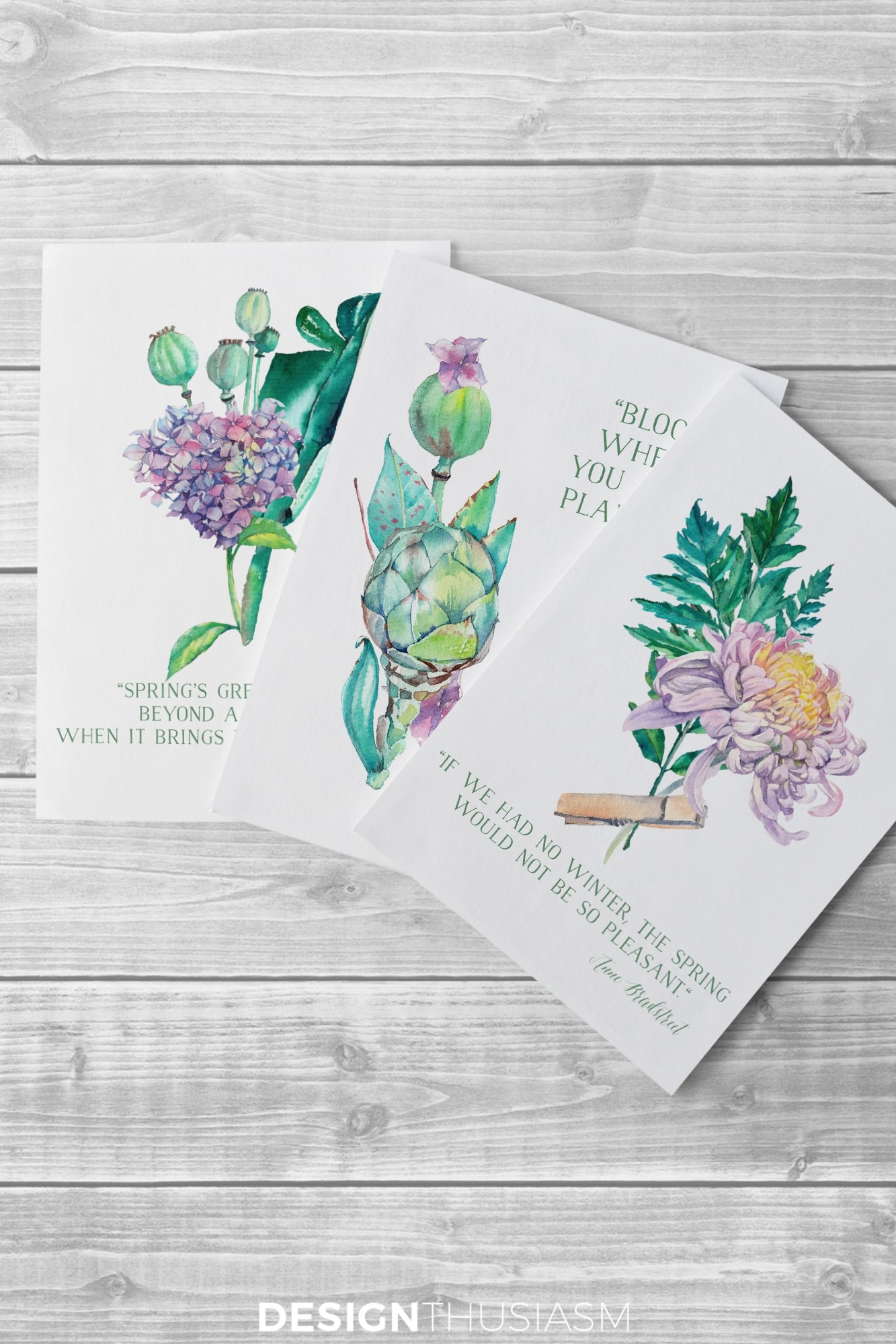 Free Printable Art For Spring: Watercolor Flowers For Diy Wall Decor - Free Printable Decor
