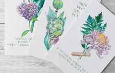 Free Printable Art For Spring: Watercolor Flowers For Diy Wall Decor – Free Printable Wall Art Decor