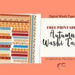 Free Printable Autumn Washi Tape – Bible Journal Love   Free Printable Autumn Paper