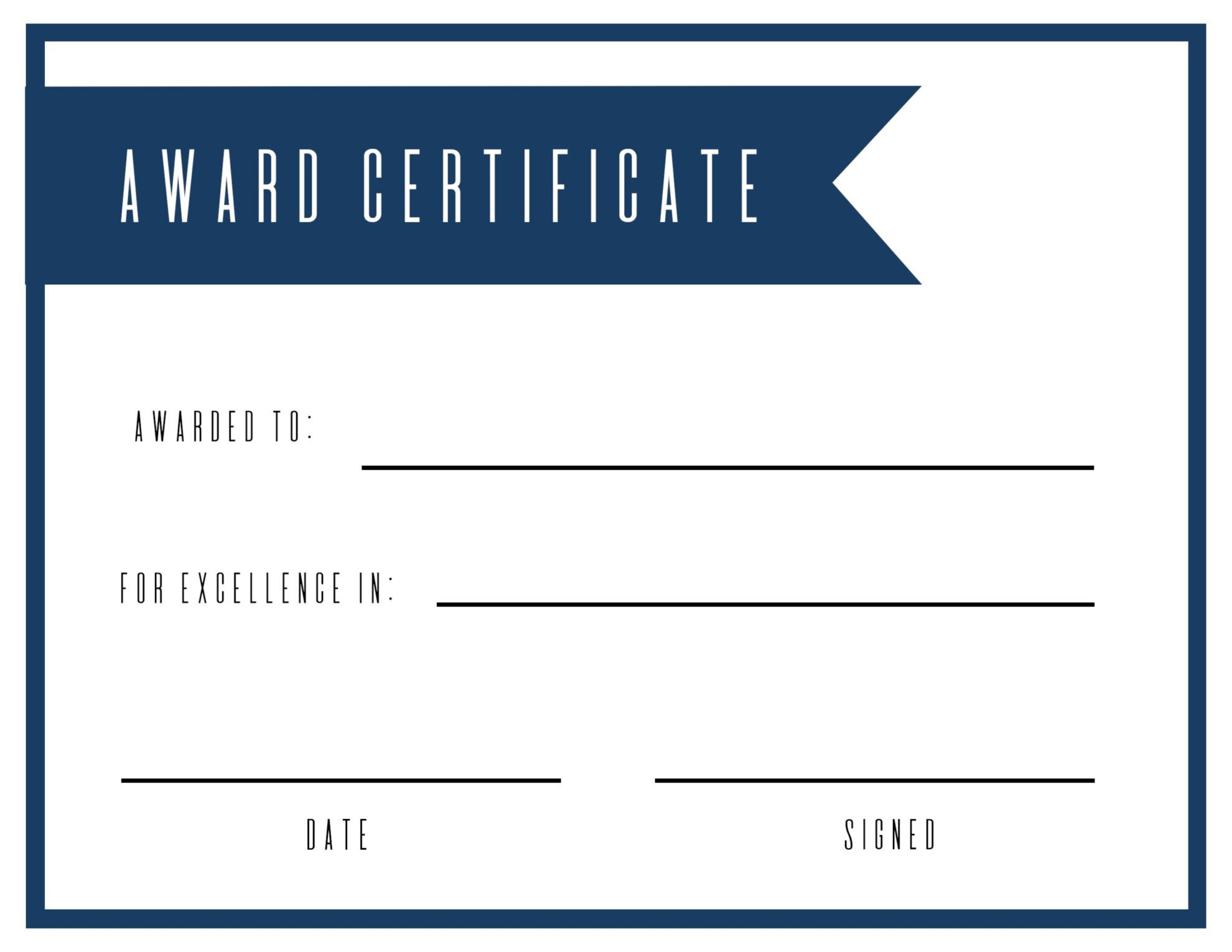 Free Printable Award Certificate Template - Paper Trail Design - Free Printable Halloween Award Certificates