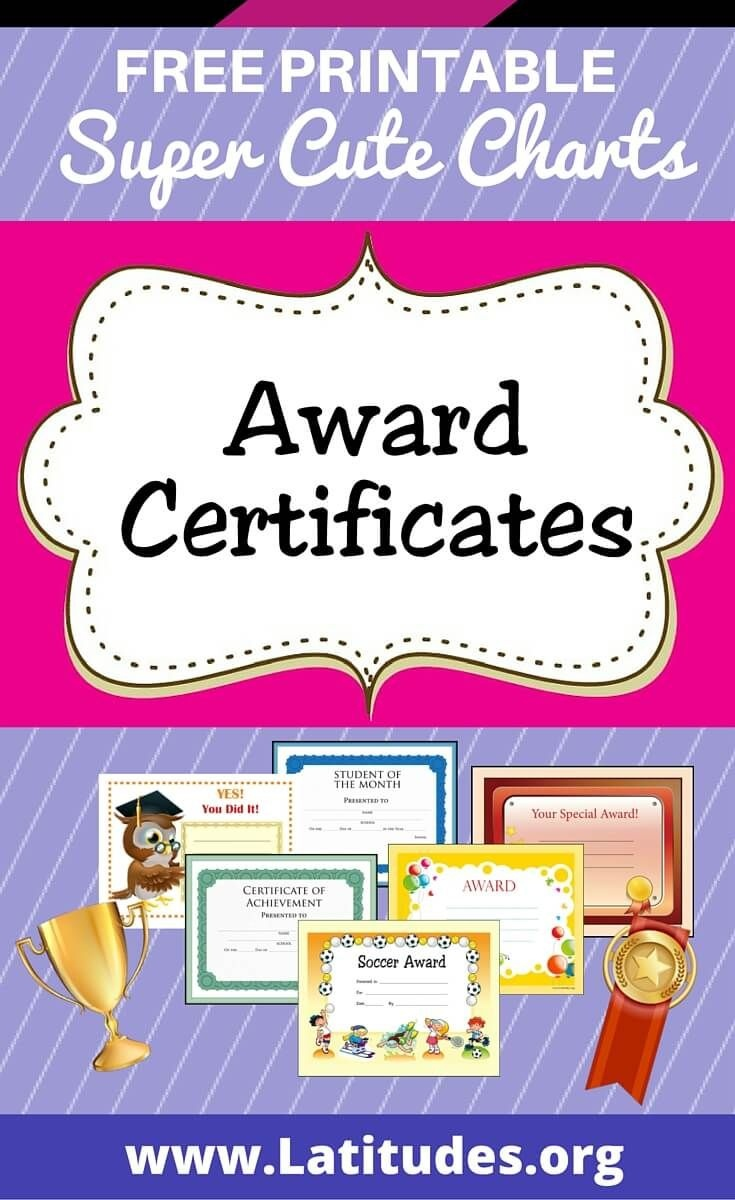 Free Printable Award Certificates For Kids | Homeschool | Award - Free Printable Honor Roll Certificates Kids