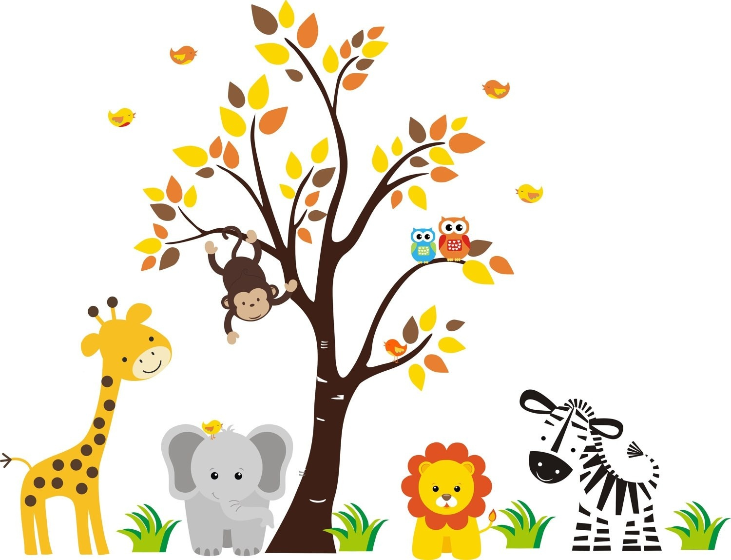 Free Printable Baby Jungle Animal Clipart 8 » Clipart Portal - Free Printable Baby Jungle Animal Clipart