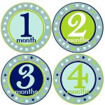 Free Printable Baby Month Stickers (75+ Images In Collection) Page 2   Free Printable Baby Month Stickers