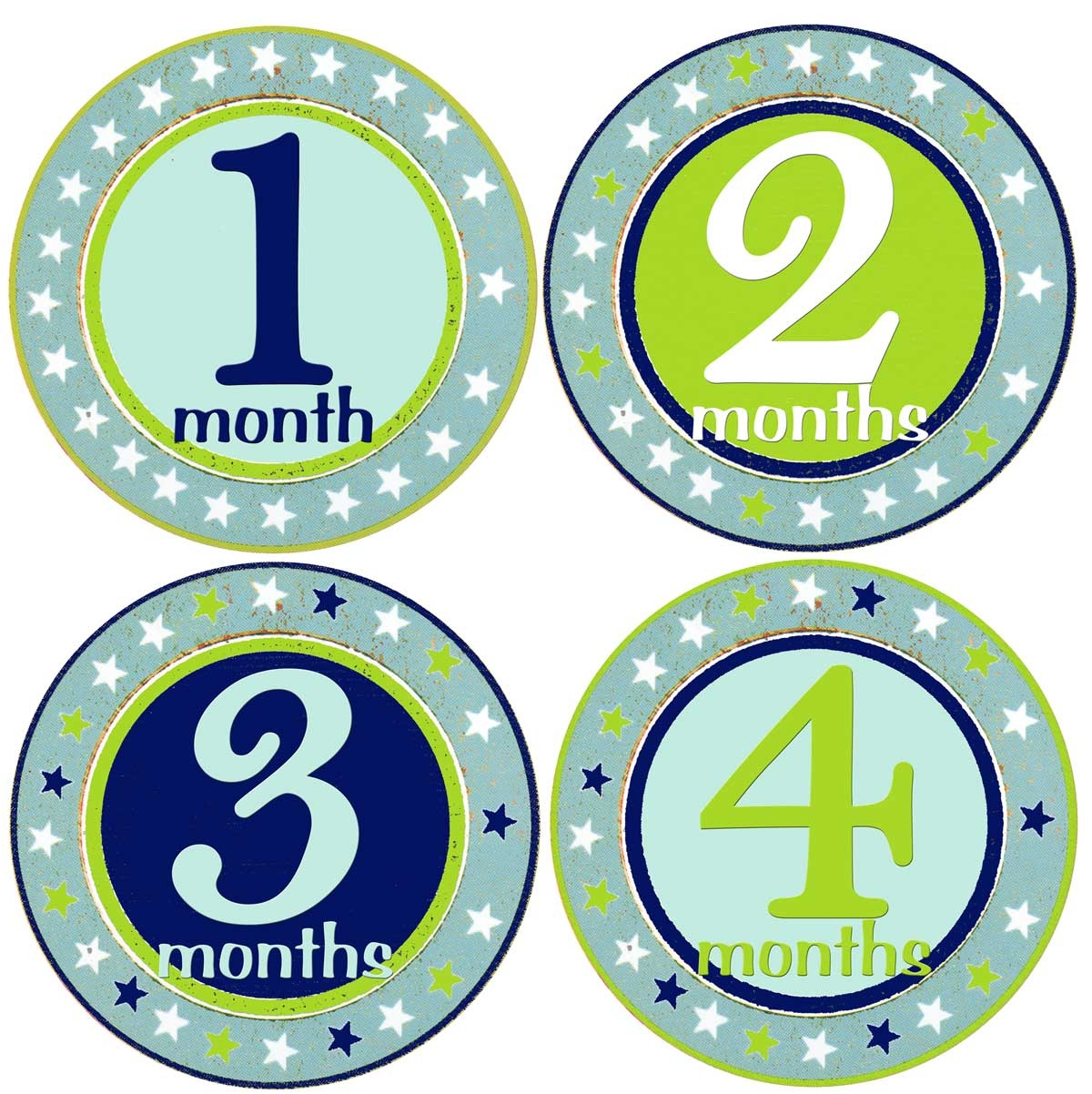 Free Printable Baby Month Stickers (75+ Images In Collection) Page 2 - Free Printable Baby Month Stickers