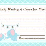 Free Printable Baby Shower Advice Cards   Printable Cards   Free Printable Baby Advice Cards