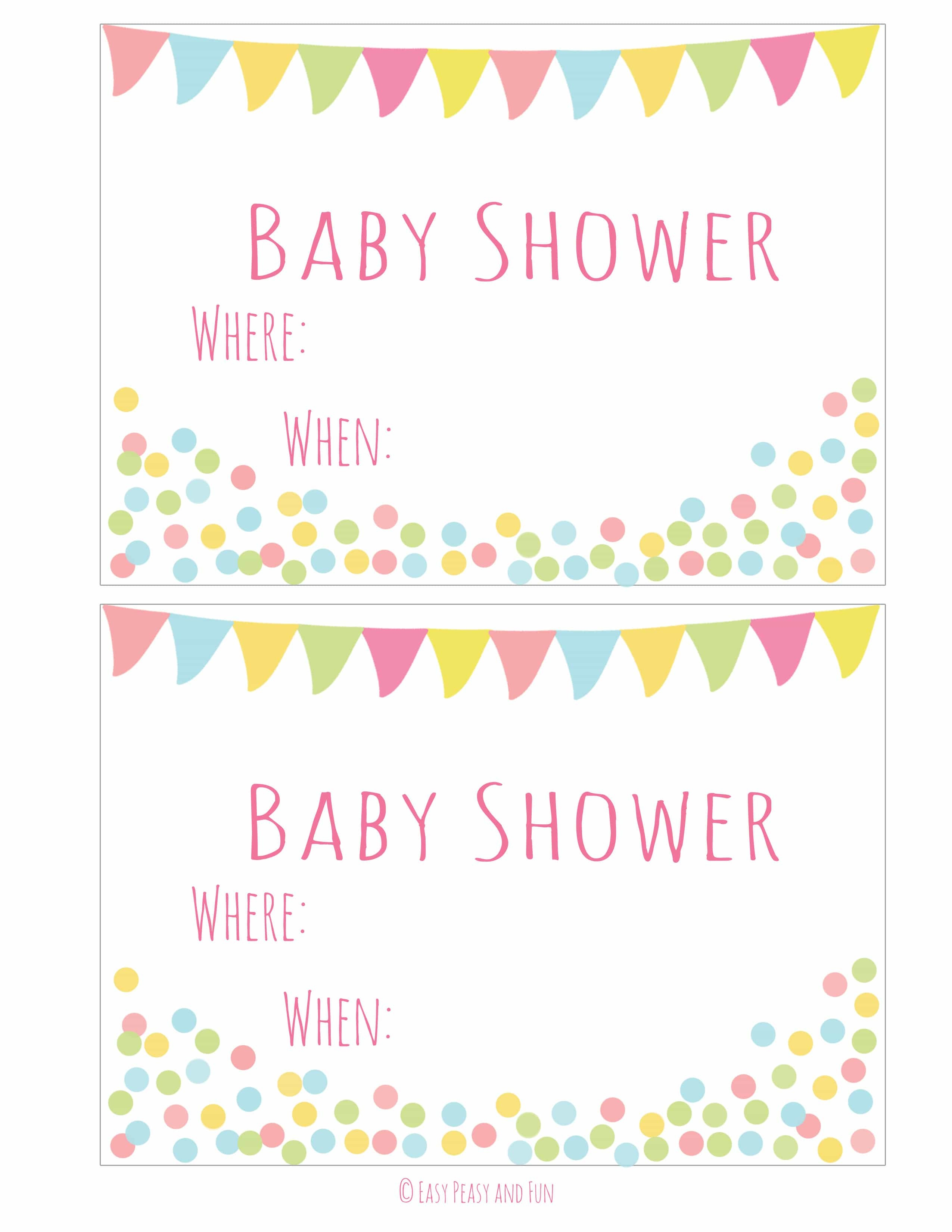 Free Printable Baby Shower Invitation - Easy Peasy And Fun - Baby Invitations Printable Free